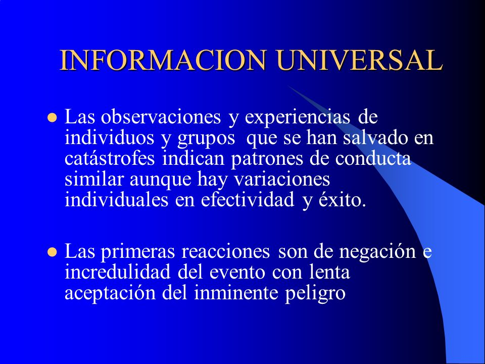 INFORMACION UNIVERSAL