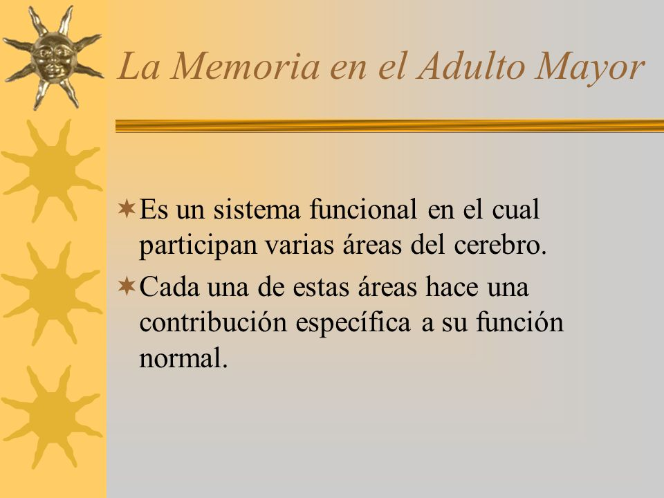La Memoria en el Adulto Mayor