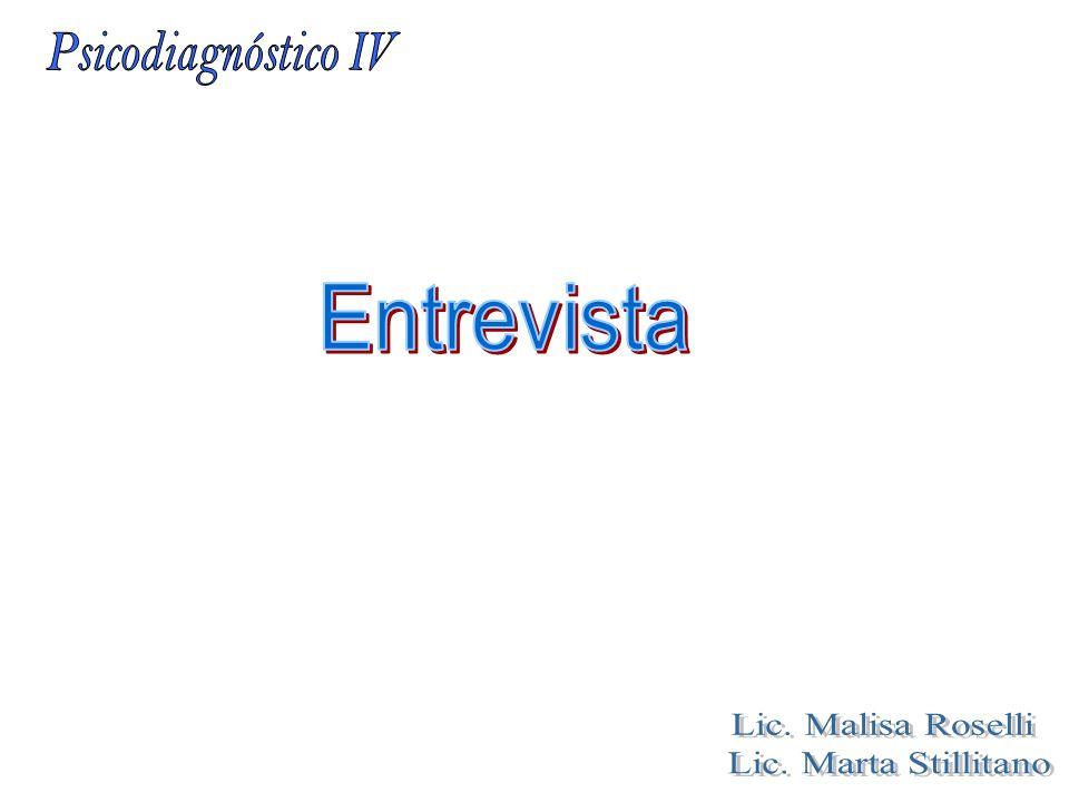 Entrevista Lic. Malisa Roselli Lic. Marta Stillitano