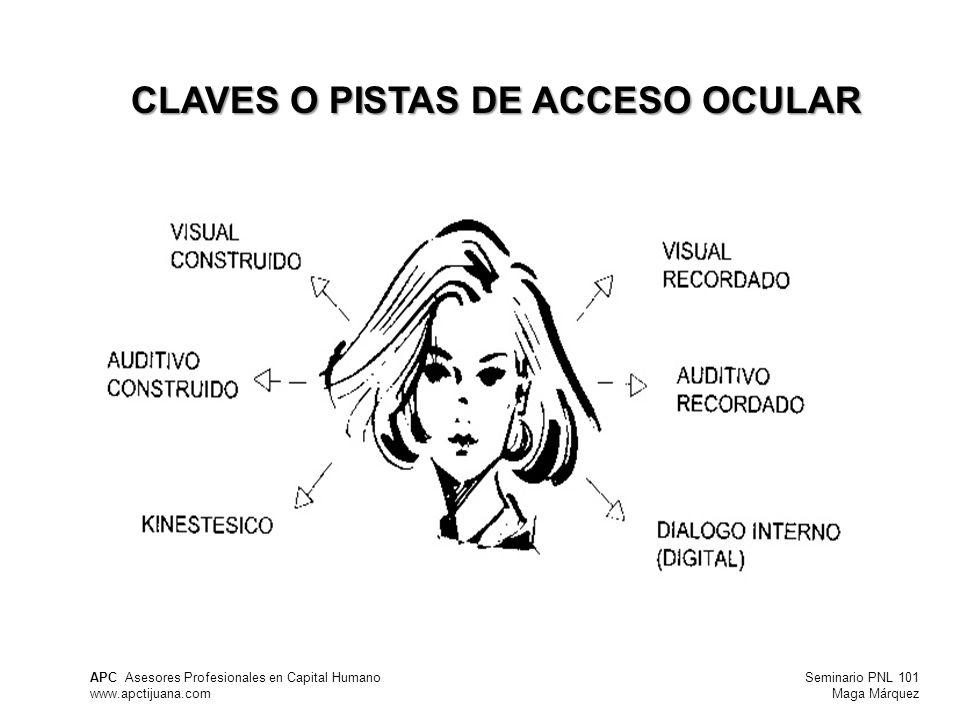 CLAVES O PISTAS DE ACCESO OCULAR