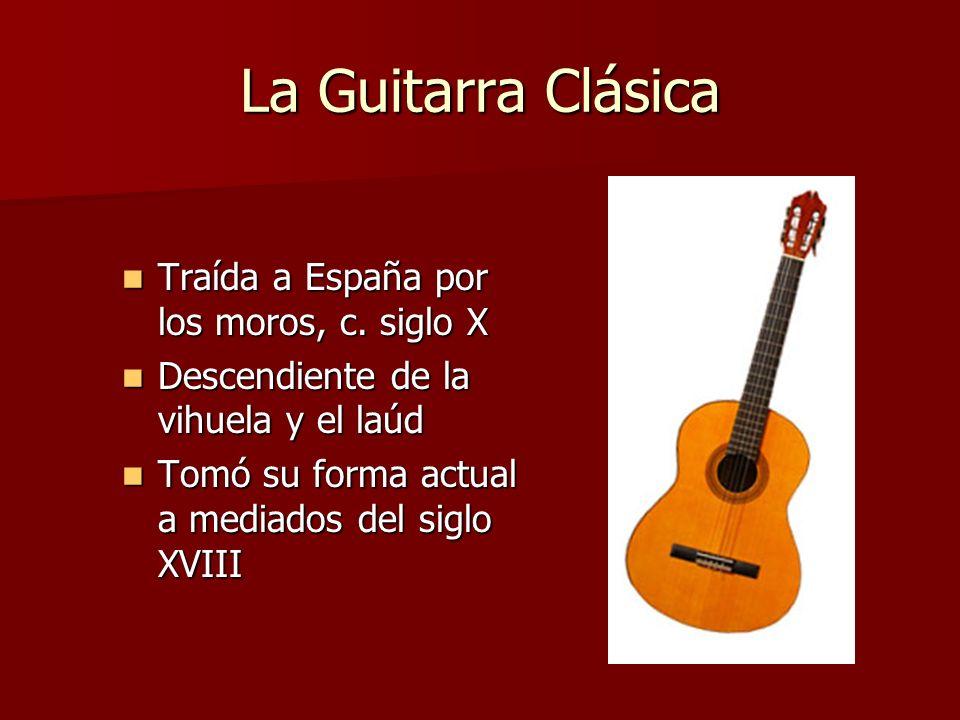 La Guitarra Clásica Traída a España por los moros, c. siglo X