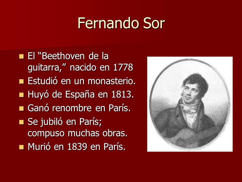 Fernando Sor El Beethoven de la guitarra, nacido en 1778