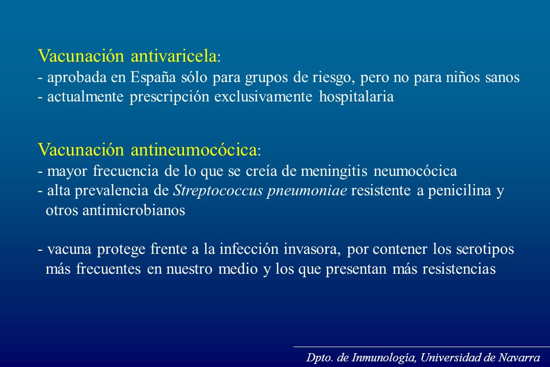 Vacunación antivaricela: