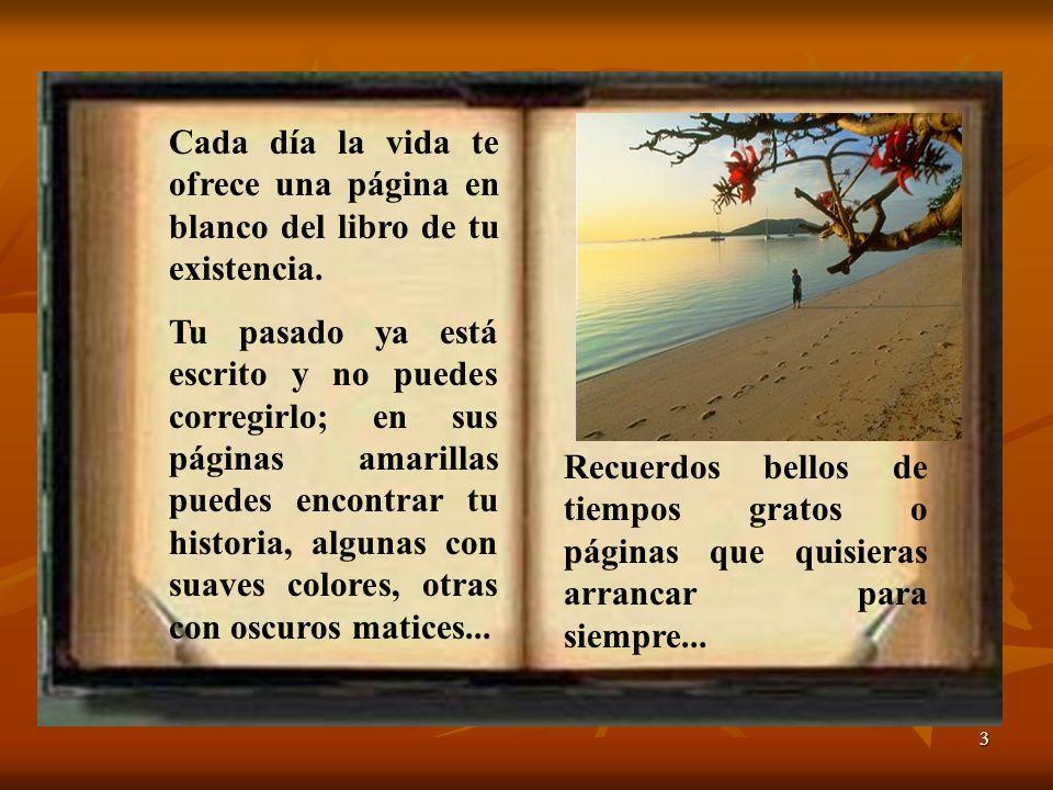 Cada día la vida te ofrece una página en blanco del libro de tu existencia.