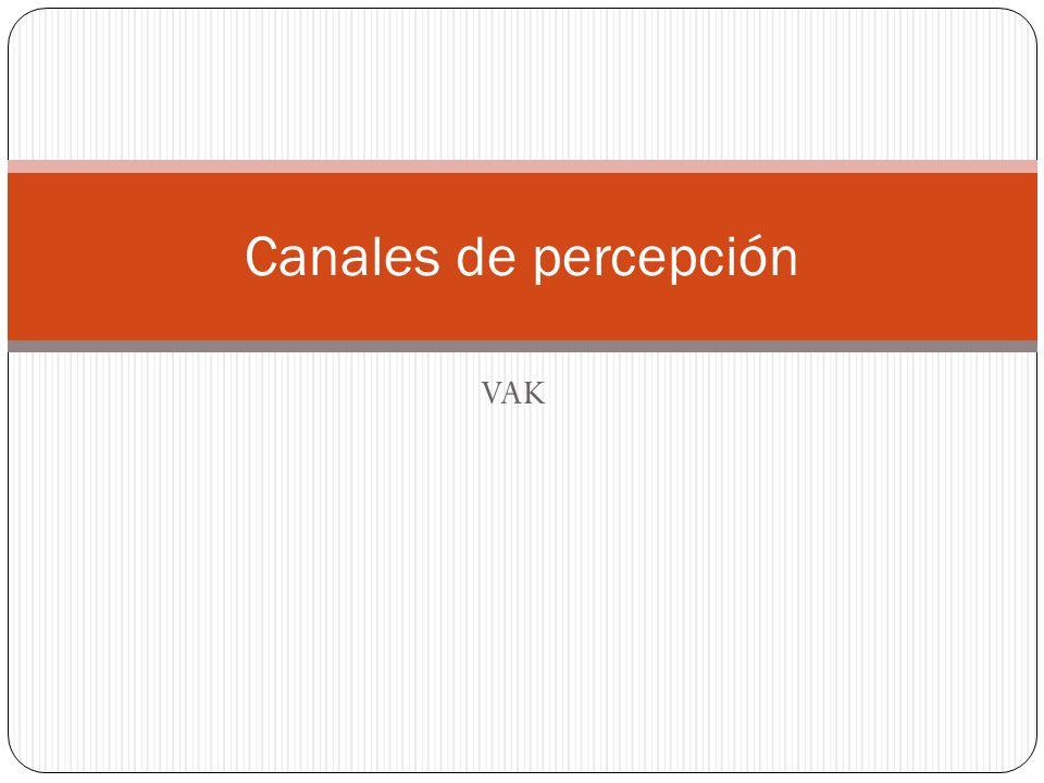 Canales de percepción VAK