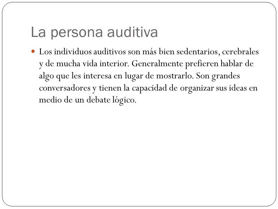 La persona auditiva