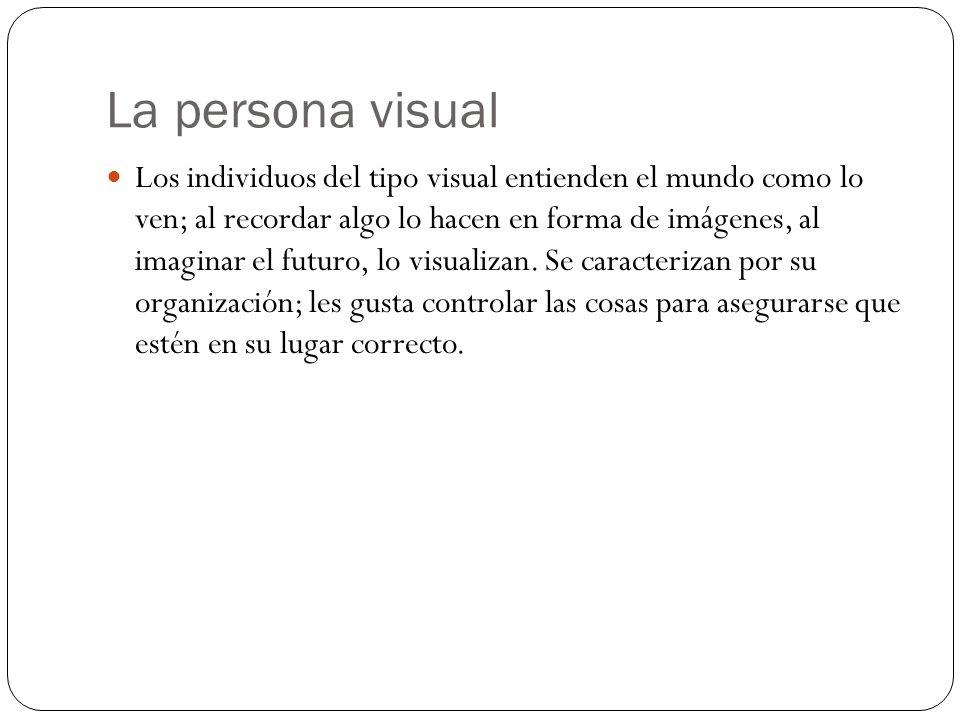 La persona visual