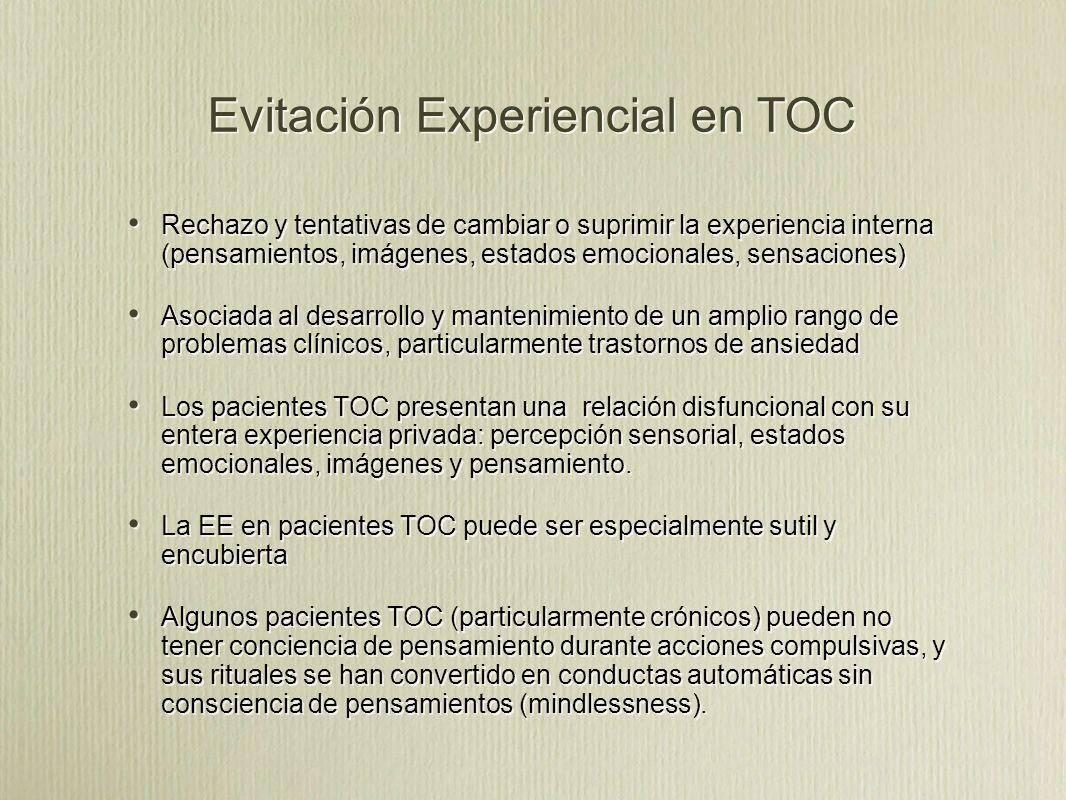 Evitación Experiencial en TOC