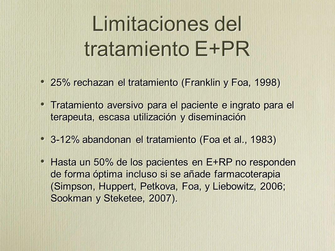 Limitaciones del tratamiento E+PR