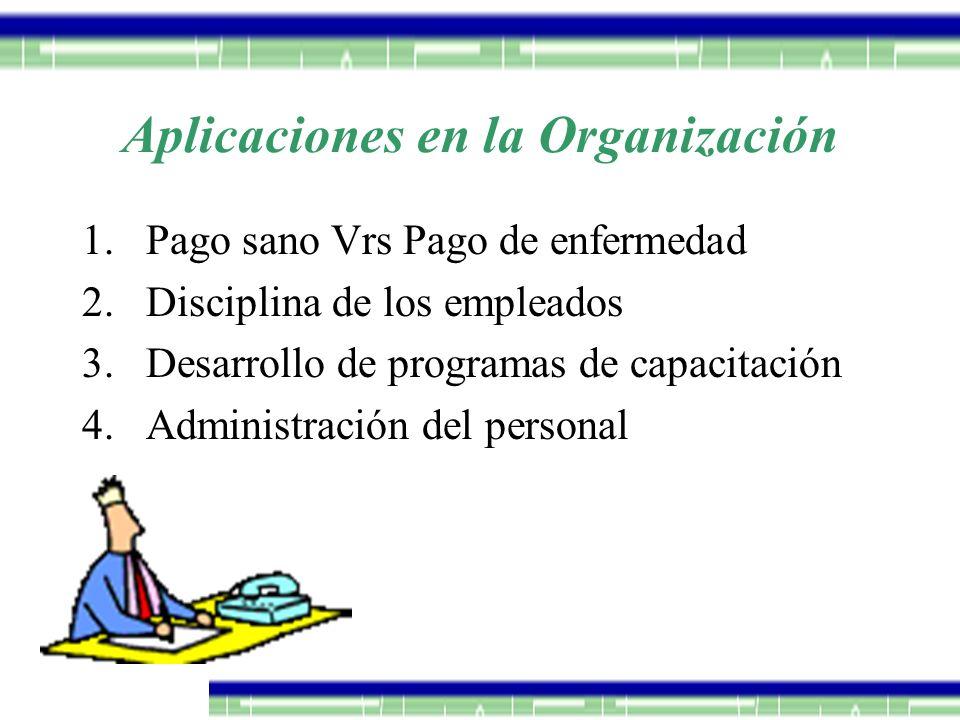 Aplicaciones en la Organización