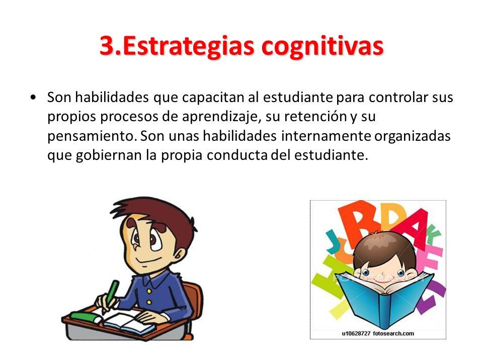 3.Estrategias cognitivas