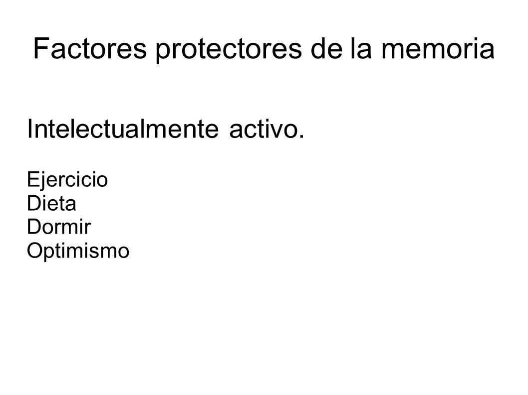 Factores protectores de la memoria