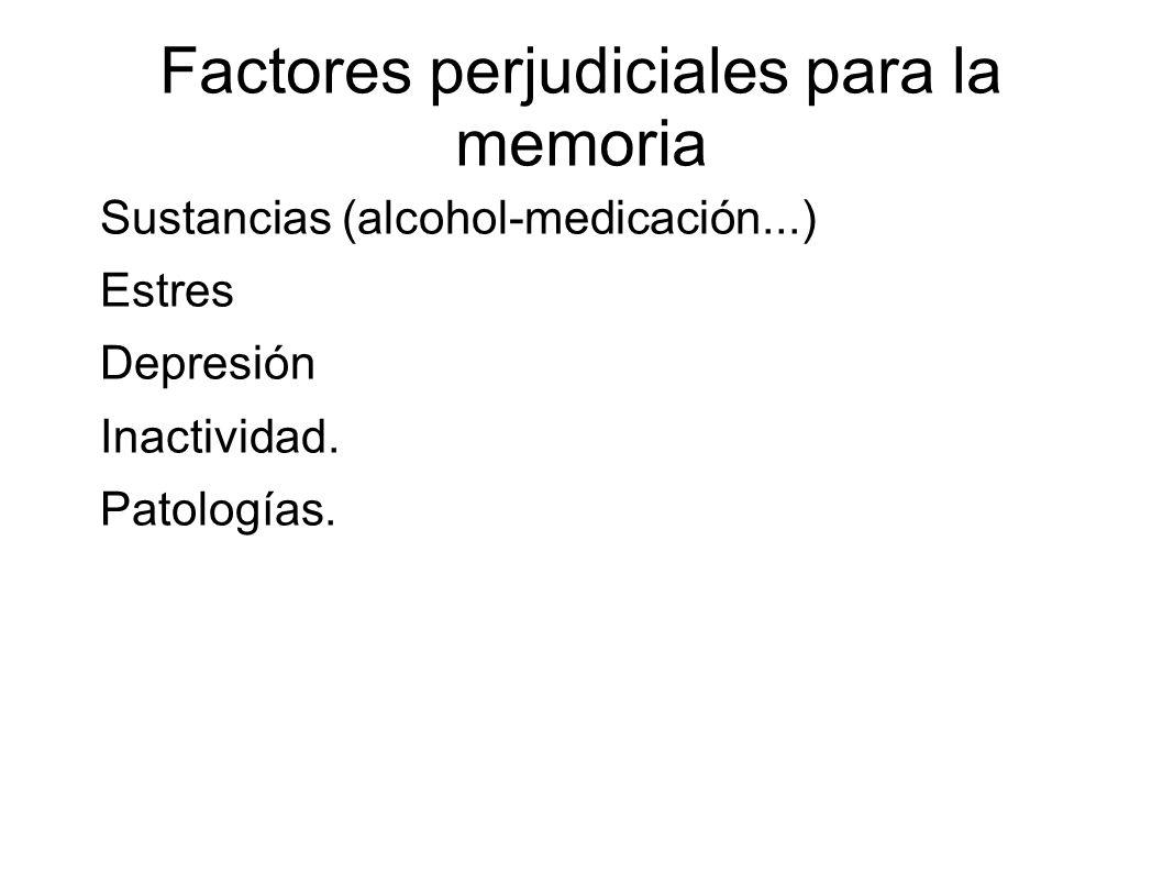 Factores perjudiciales para la memoria