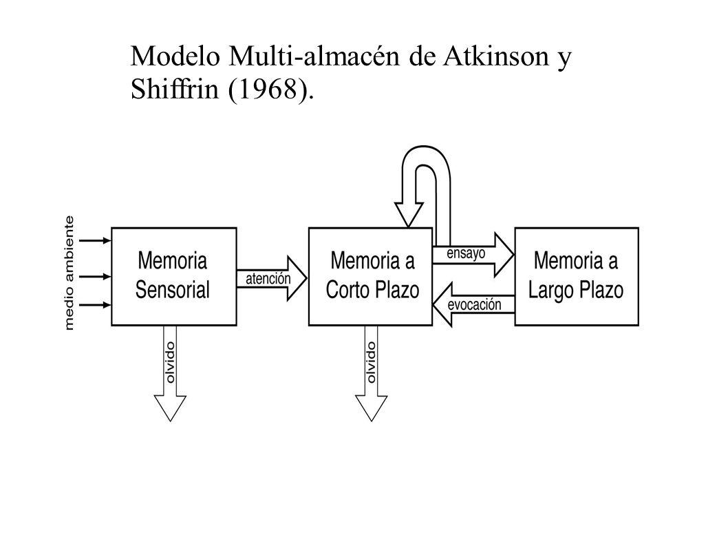 Modelo Multi-almacén de Atkinson y Shiffrin (1968).