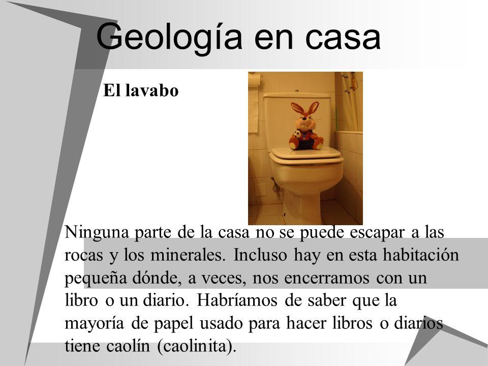 Geología en casa El lavabo
