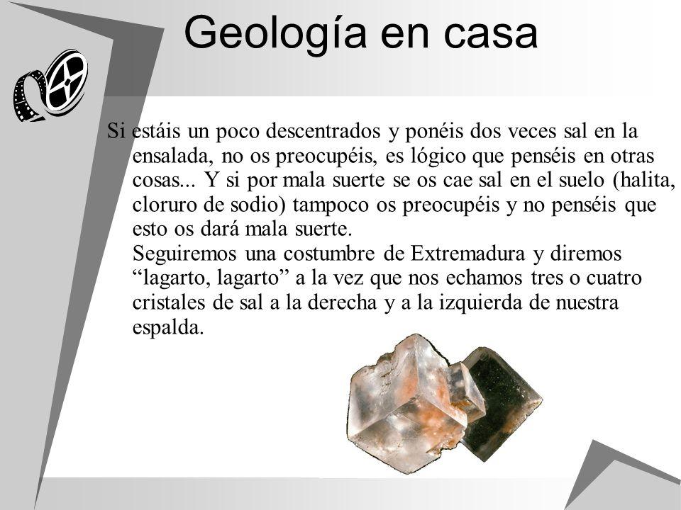 Geología en casa