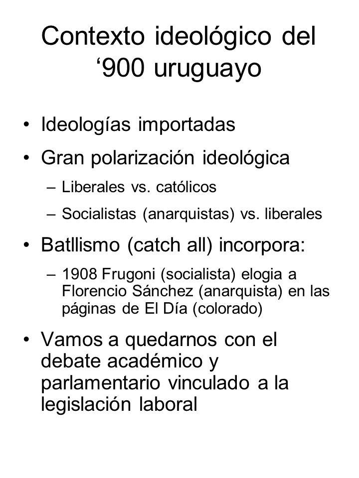 Contexto ideológico del '900 uruguayo