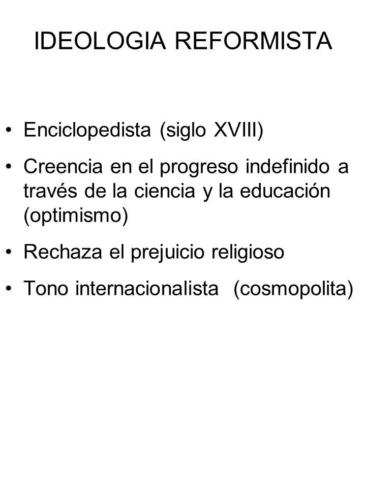 IDEOLOGIA REFORMISTA Enciclopedista (siglo XVIII)