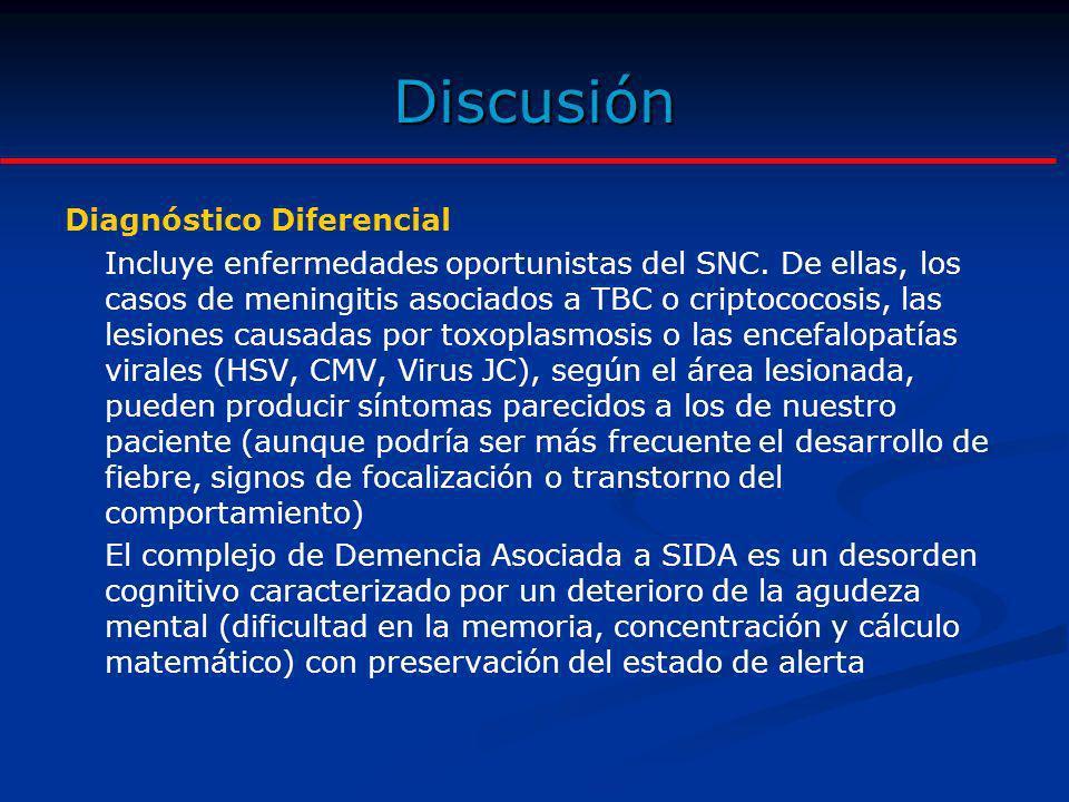 Discusión Diagnóstico Diferencial