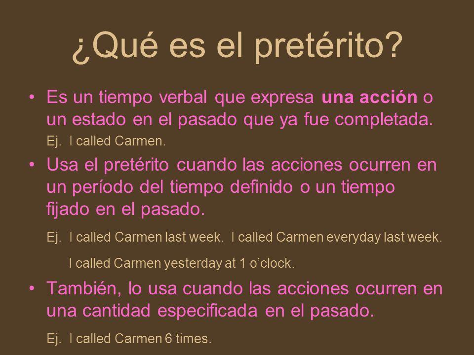 ¿Qué es el pretérito Es un tiempo verbal que expresa una acción o un estado en el pasado que ya fue completada.