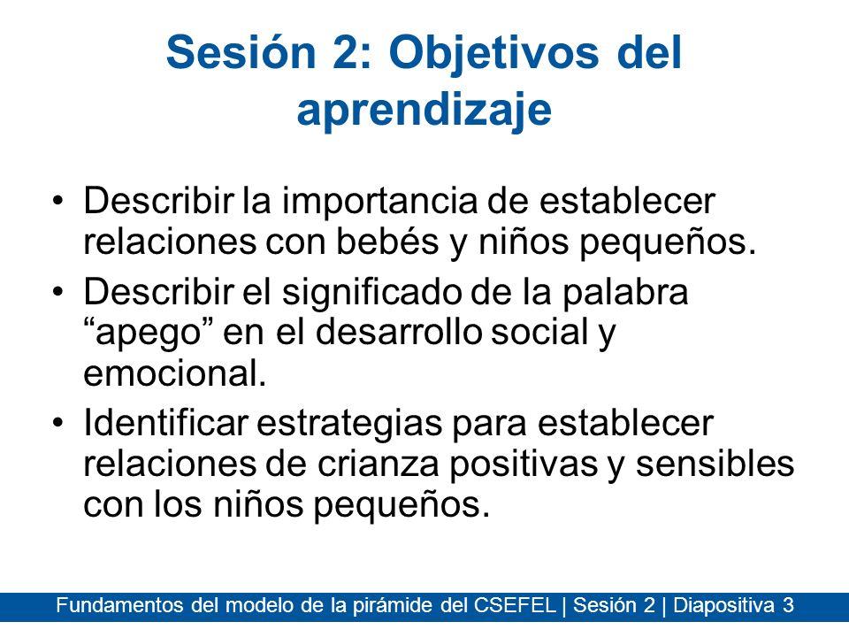 Sesión 2: Objetivos del aprendizaje