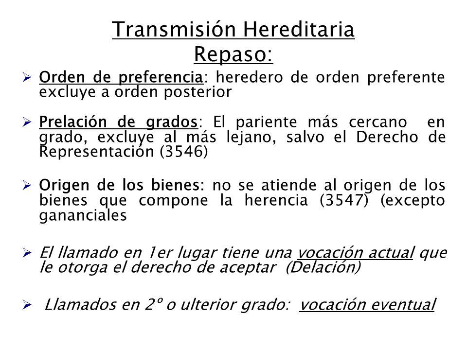 Transmisión Hereditaria Repaso: