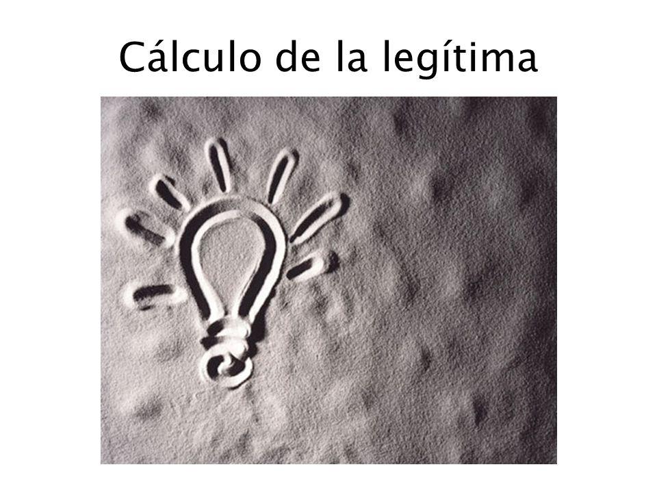 Cálculo de la legítima