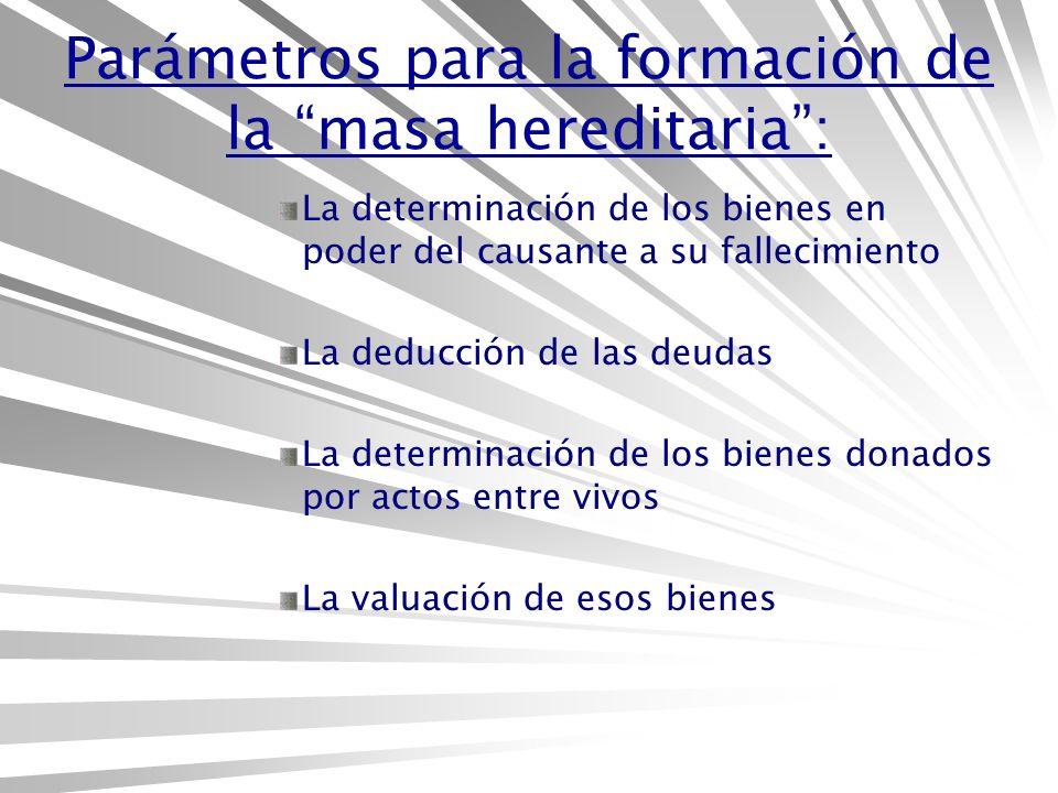 Parámetros para la formación de la masa hereditaria :