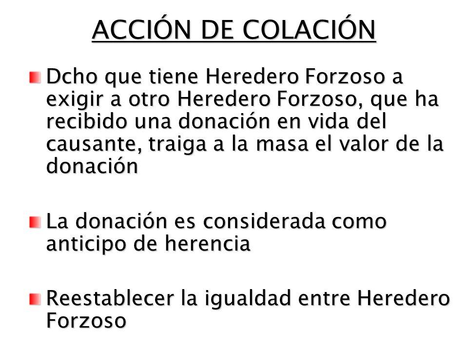 ACCIÓN DE COLACIÓN