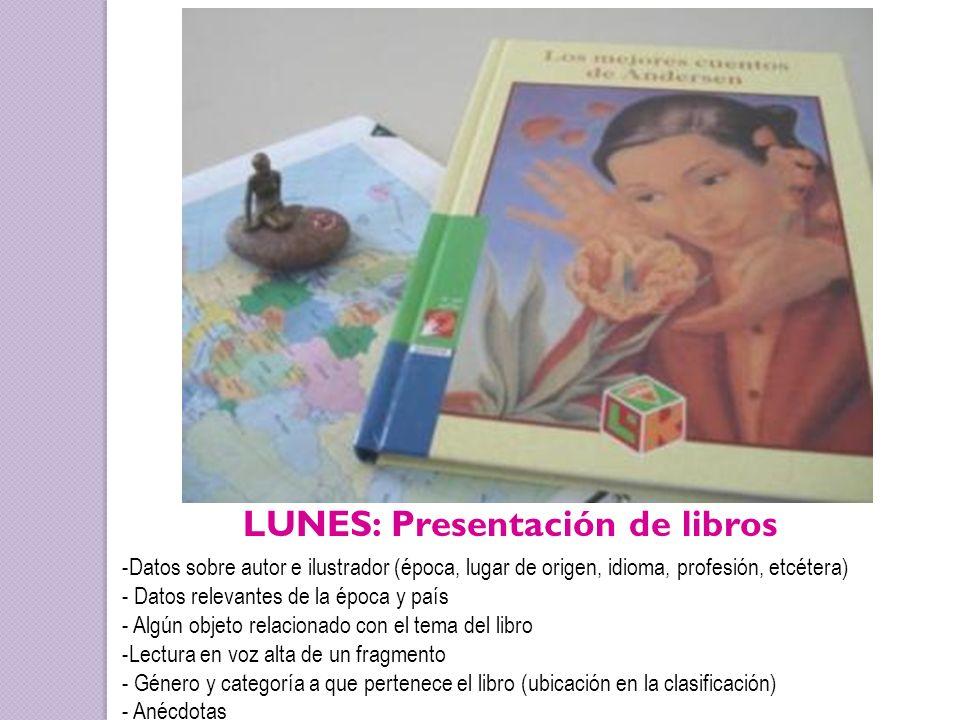 LUNES: Presentación de libros