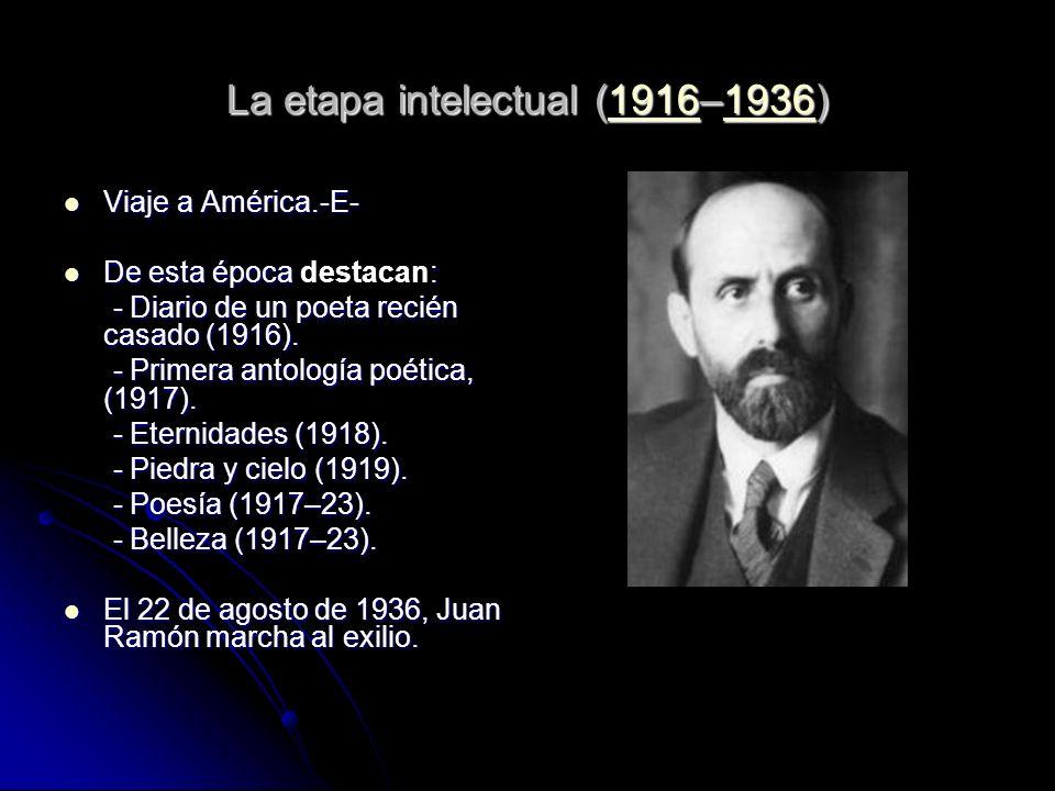 La etapa intelectual (1916–1936)