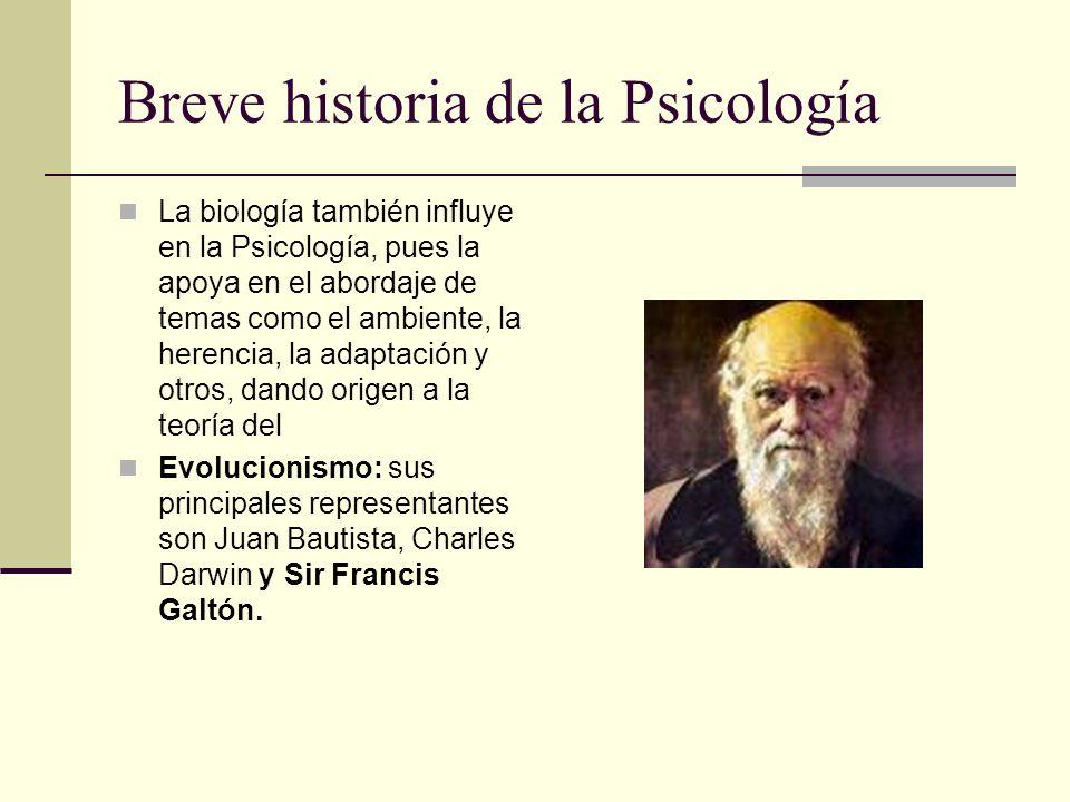 Breve historia de la Psicología
