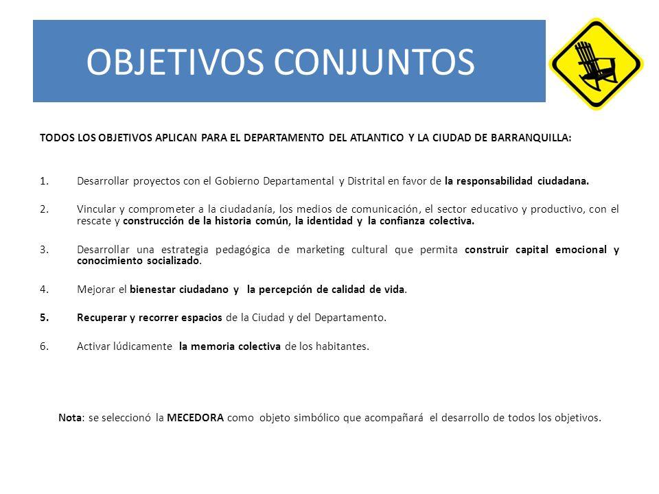 OBJETIVOS CONJUNTOS TODOS LOS OBJETIVOS APLICAN PARA EL DEPARTAMENTO DEL ATLANTICO Y LA CIUDAD DE BARRANQUILLA: