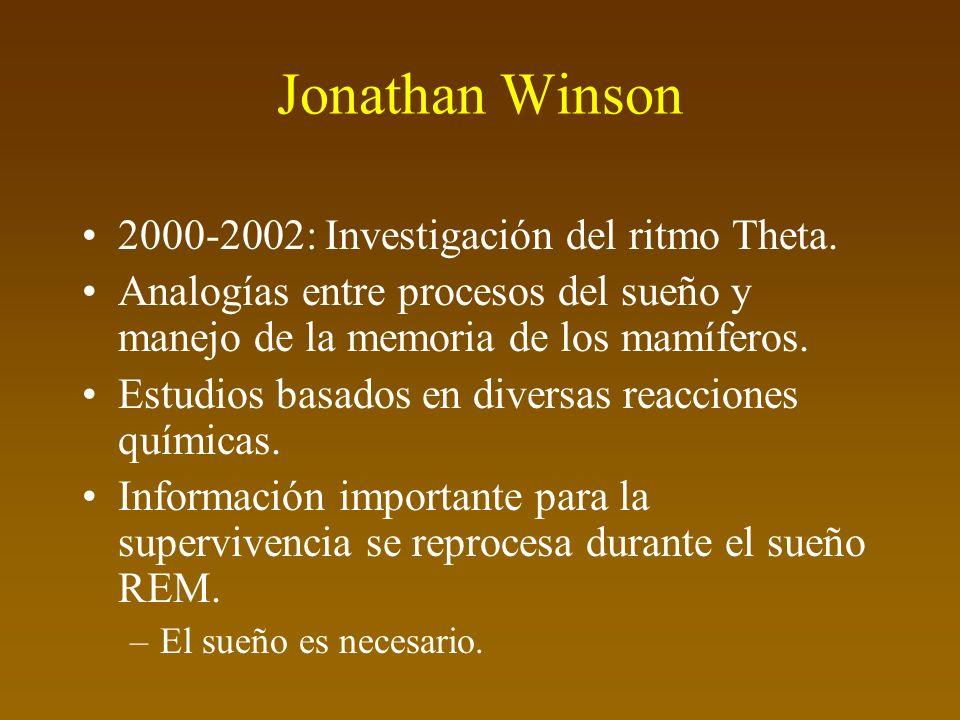 Jonathan Winson 2000-2002: Investigación del ritmo Theta.