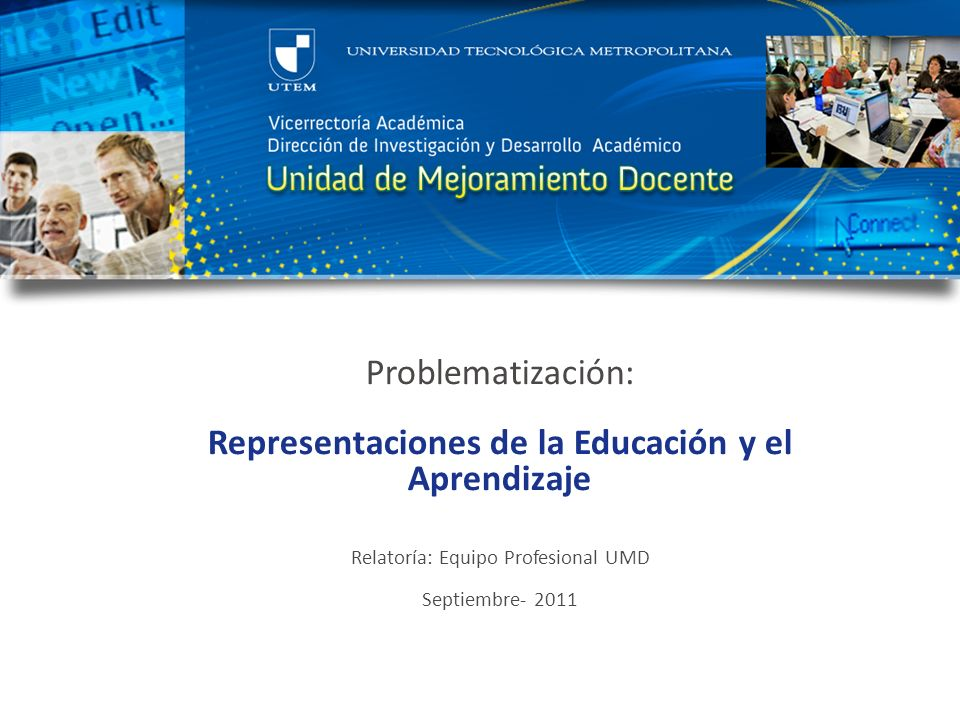 Representaciones de la Educación y el Aprendizaje