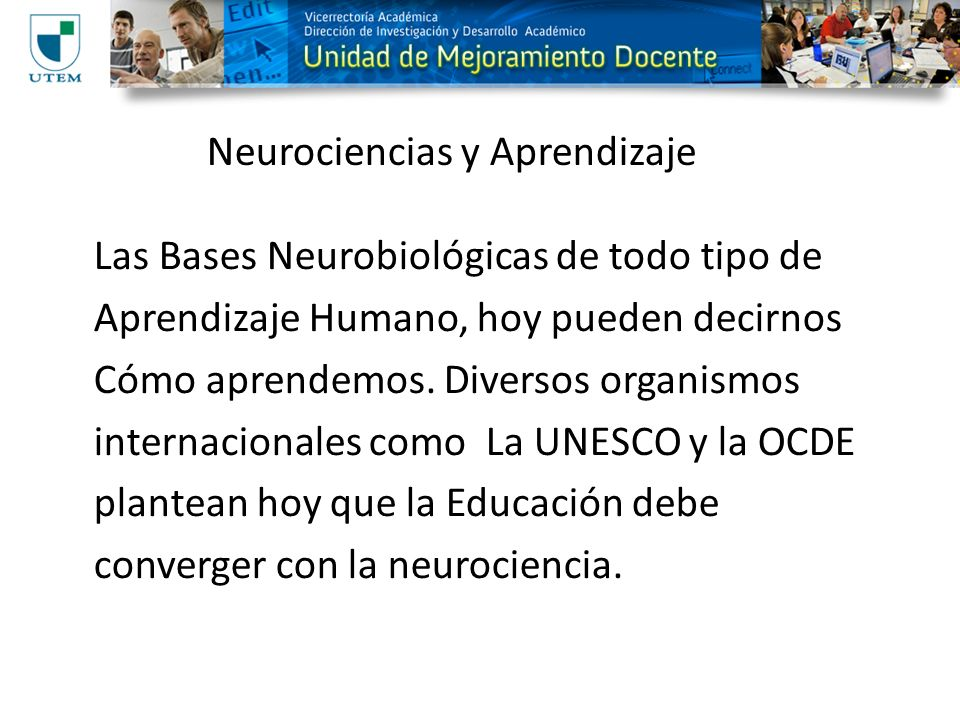 Neurociencias y Aprendizaje
