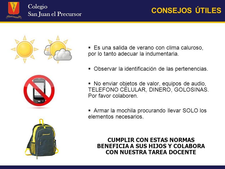 CONSEJOS ÚTILES Colegio San Juan el Precursor