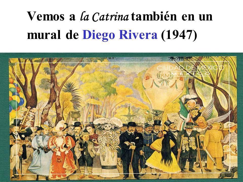 Vemos a la Catrina también en un mural de Diego Rivera (1947)