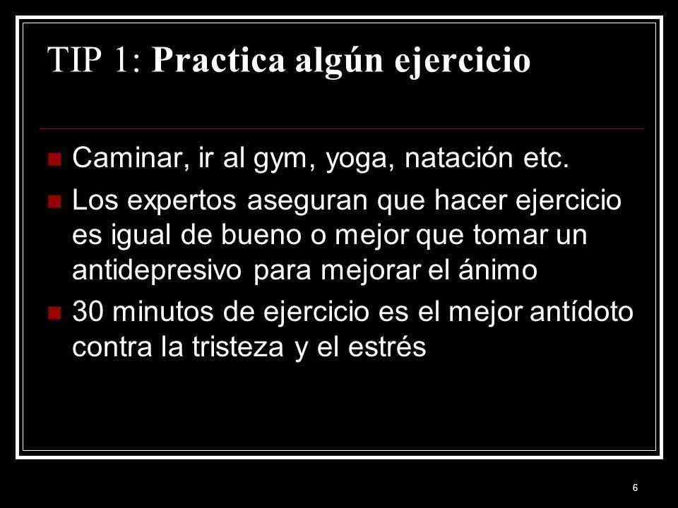 TIP 1: Practica algún ejercicio