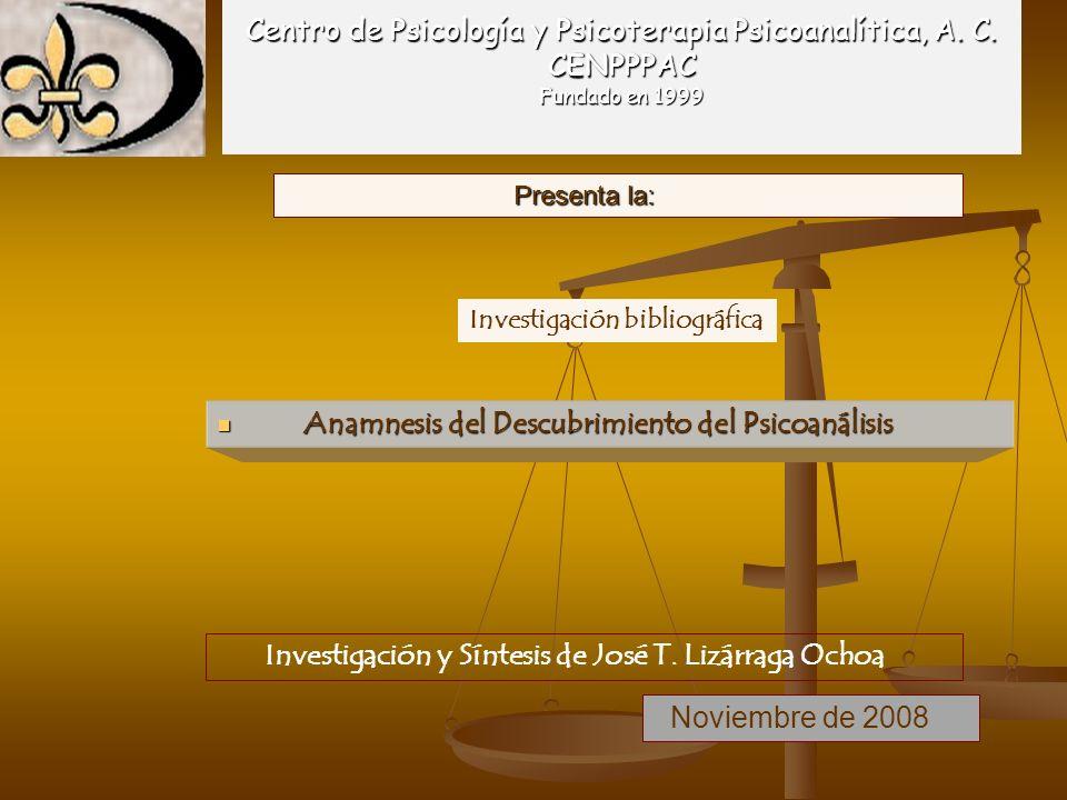 Anamnesis del Descubrimiento del Psicoanálisis