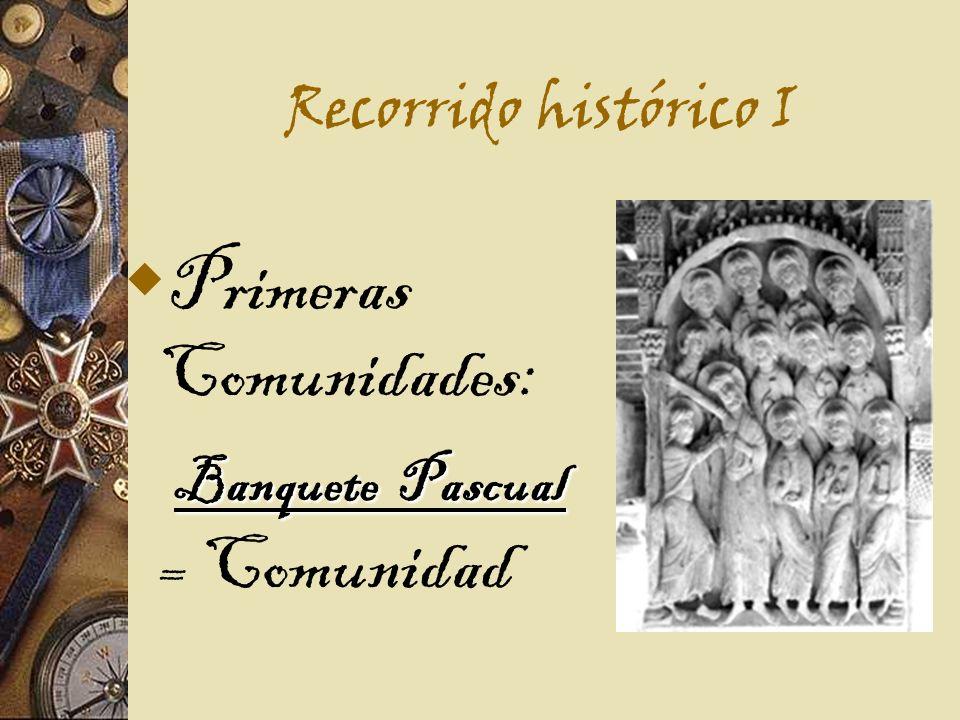 Primeras Comunidades: Banquete Pascual = Comunidad