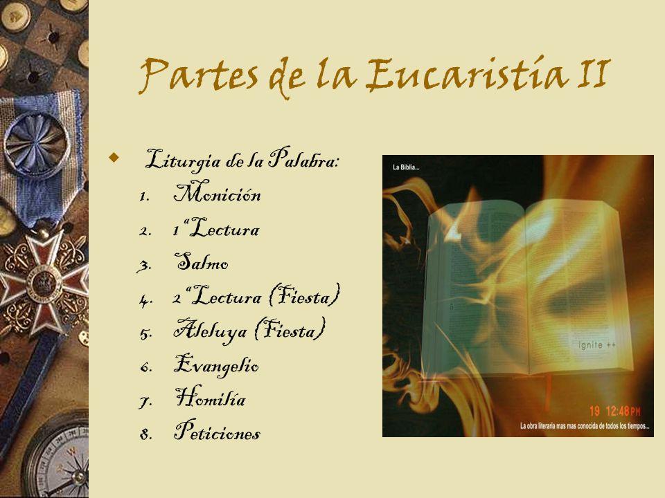 Partes de la Eucaristía II