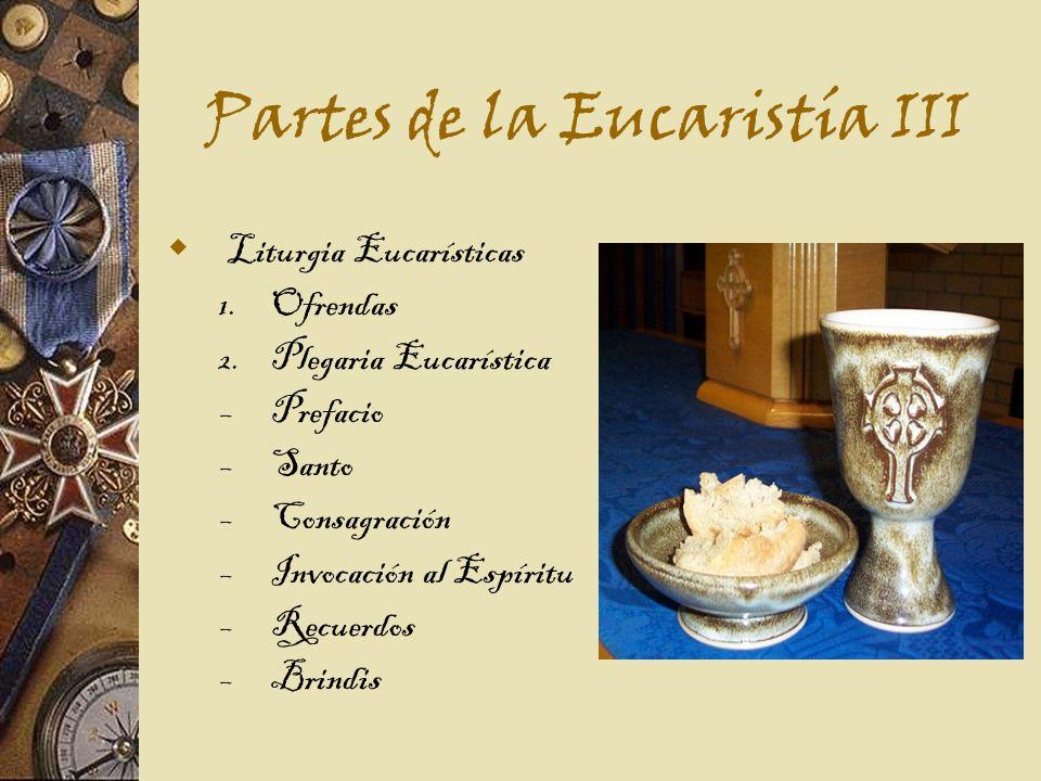 Partes de la Eucaristía III