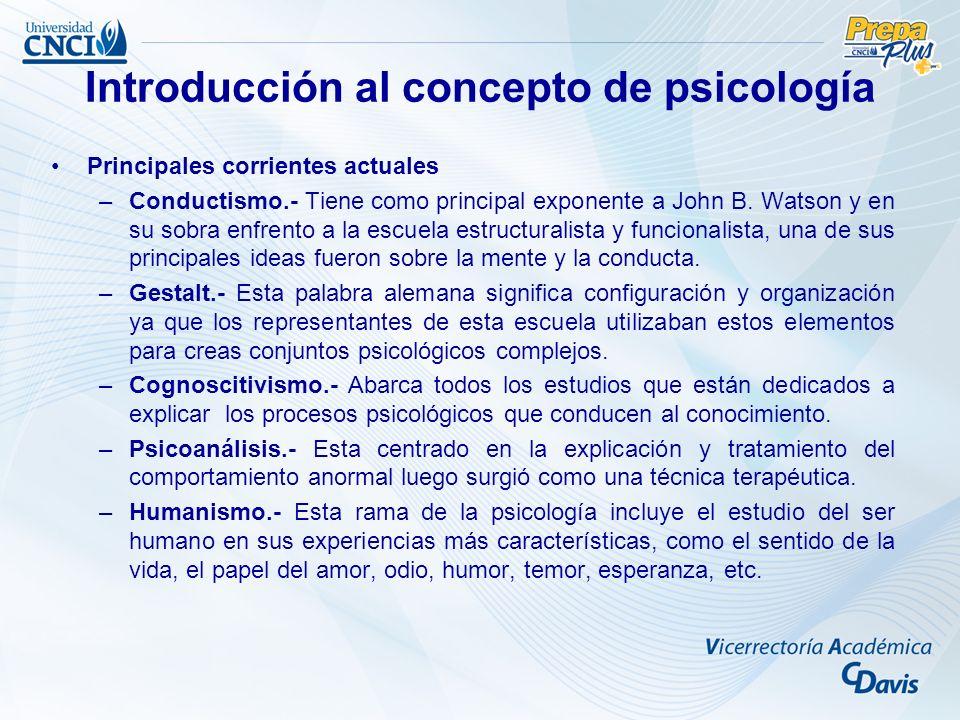 Introducción al concepto de psicología