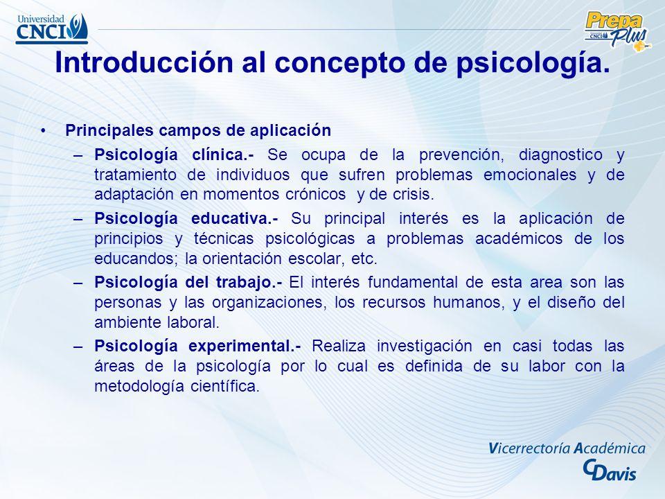Introducción al concepto de psicología.