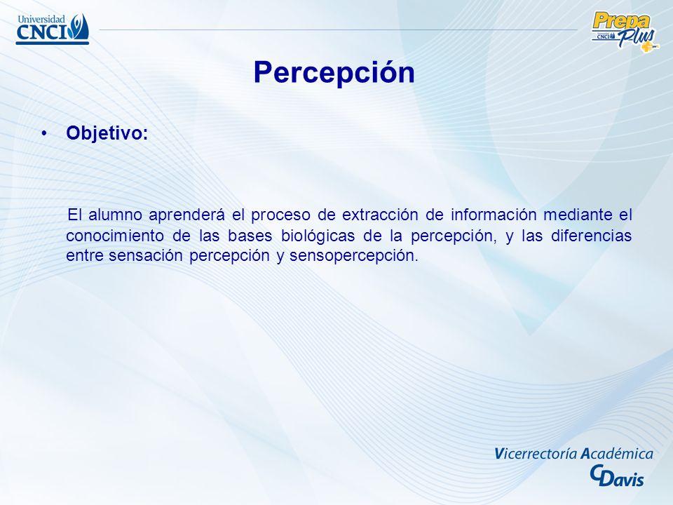 Percepción Objetivo: