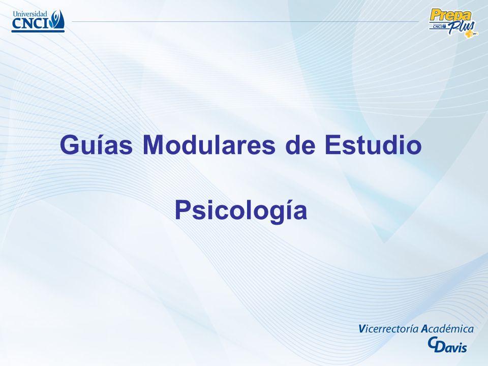 Guías Modulares de Estudio Psicología