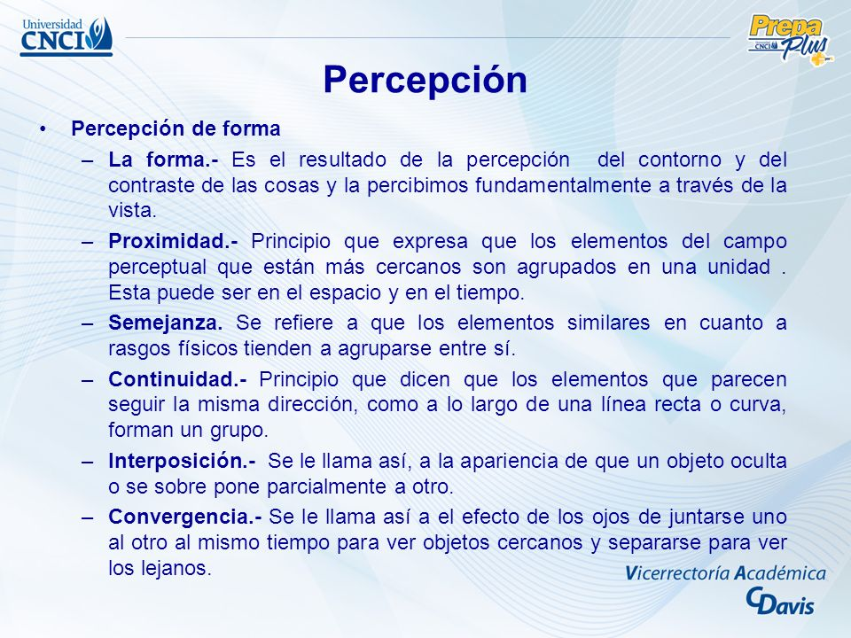 Percepción Percepción de forma