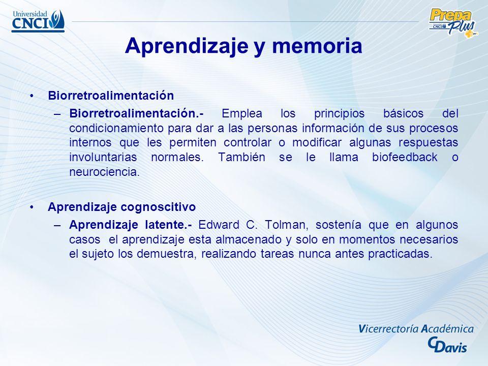 Aprendizaje y memoria Biorretroalimentación