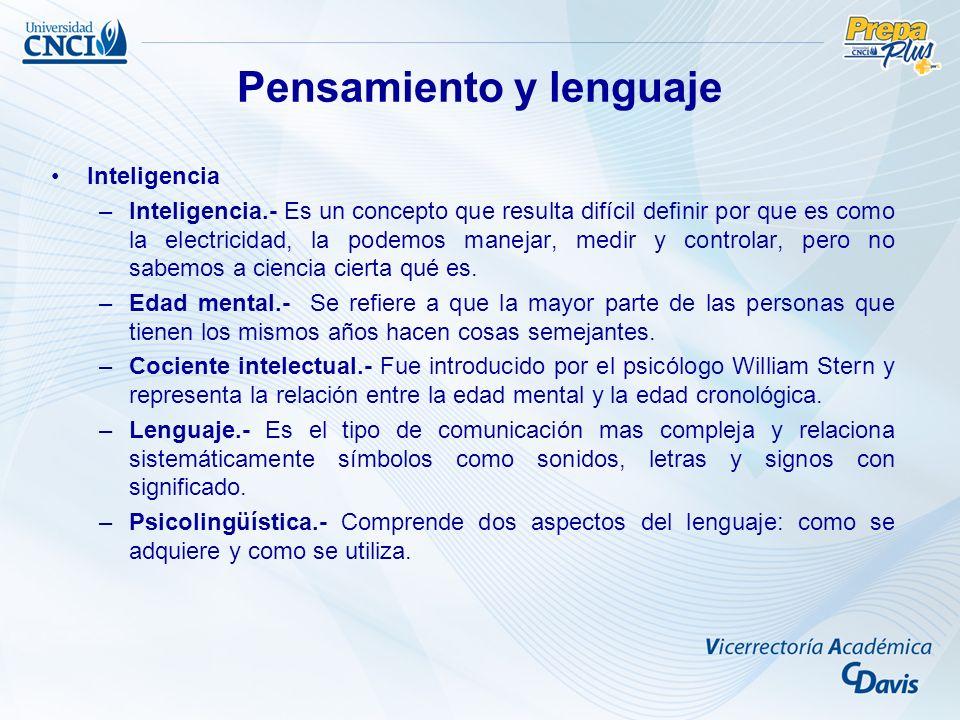 Pensamiento y lenguaje